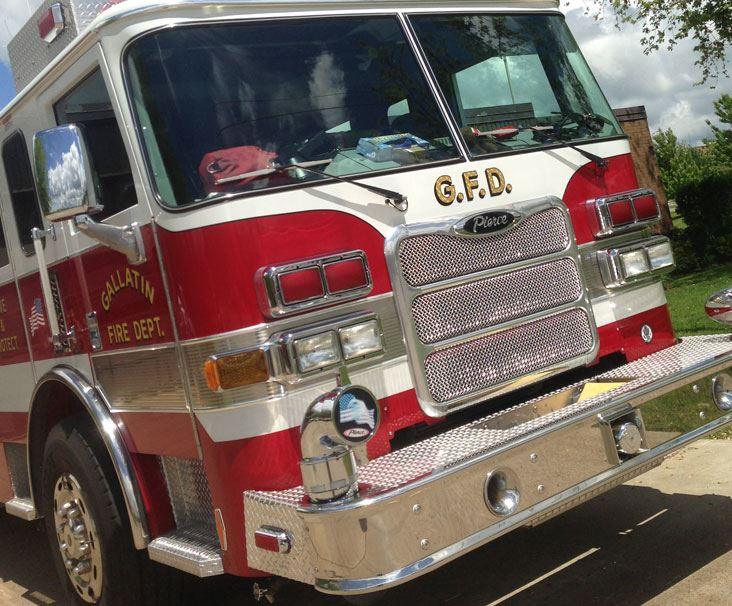 Front of Gallatin Fire Truck