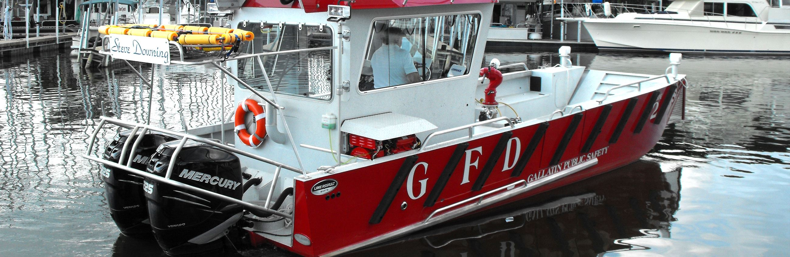 Gallatin Fire Boat at Marina