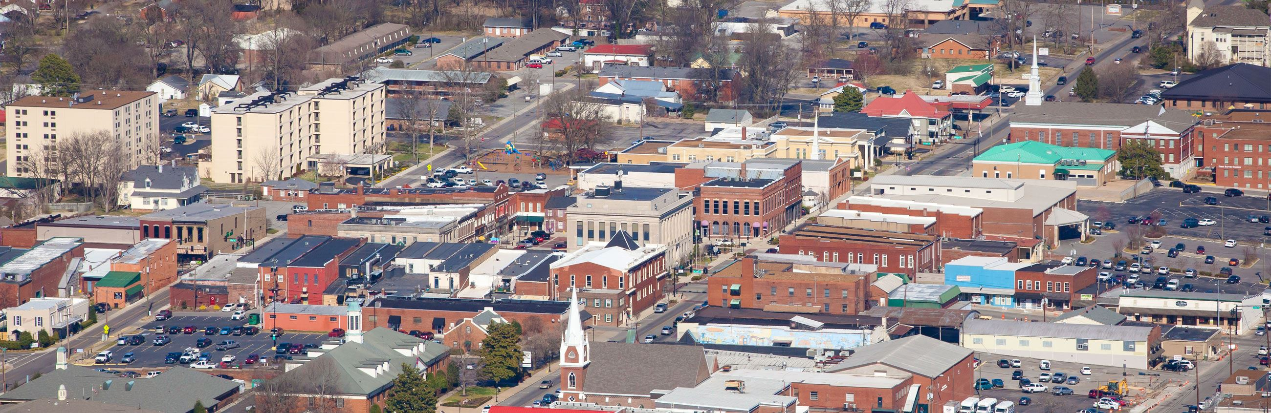 Arial View of Downtown Gallatin