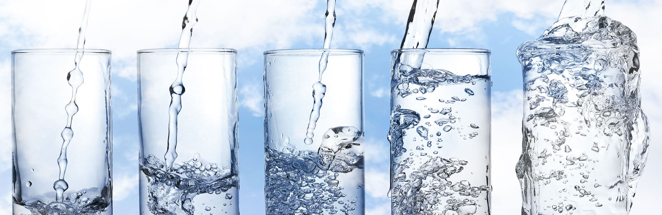Filling glasses of water