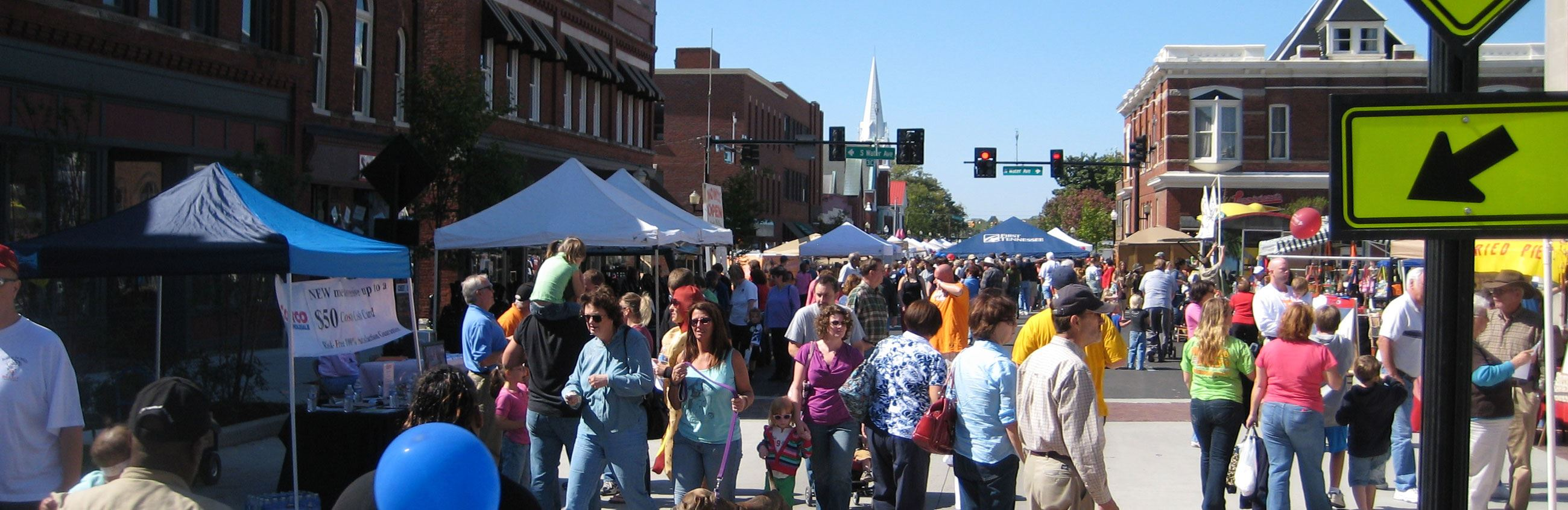 People attending the Main Street Festival