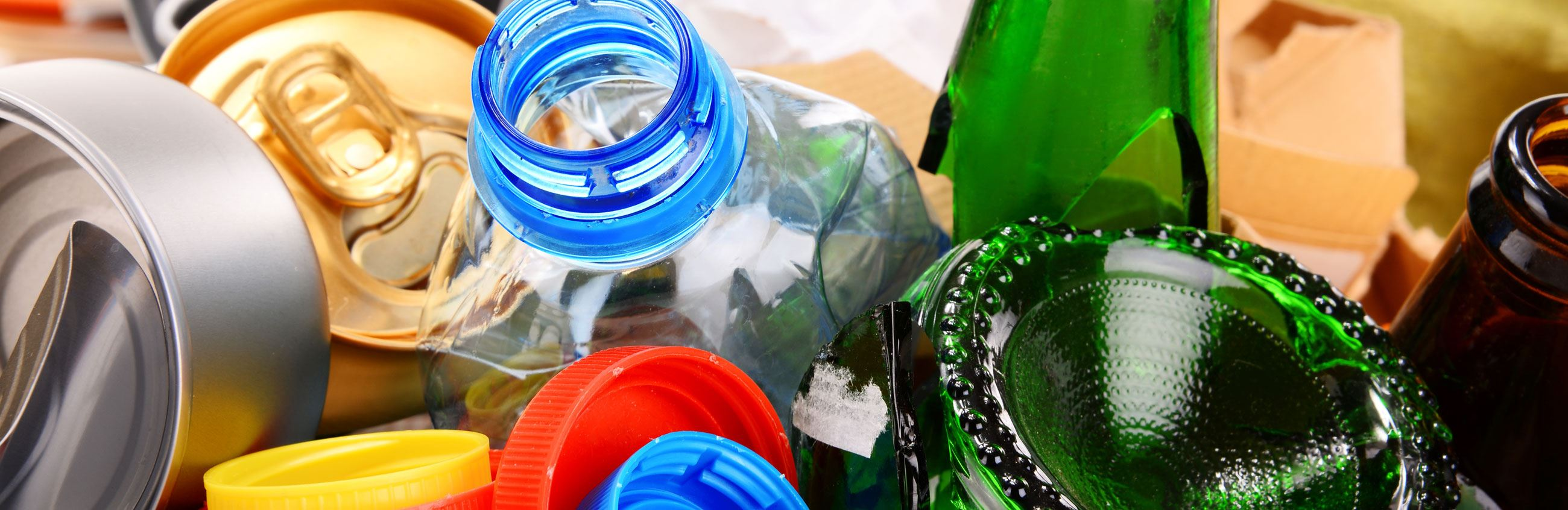 Assortment of recyclable materials