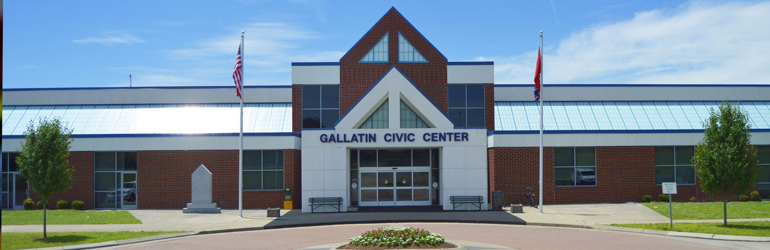 Front doors of Gallatin Civic Center