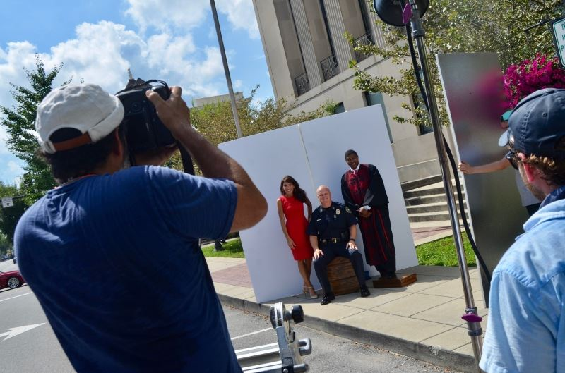 Readers Digest Photoshoot in front of Sumner County Courthouse