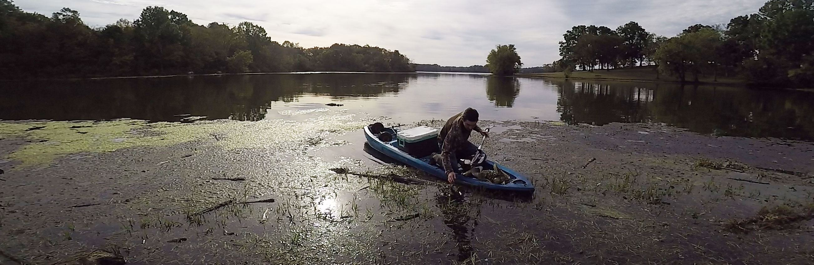 Cleanup Volunteer on Old Hickory Lake