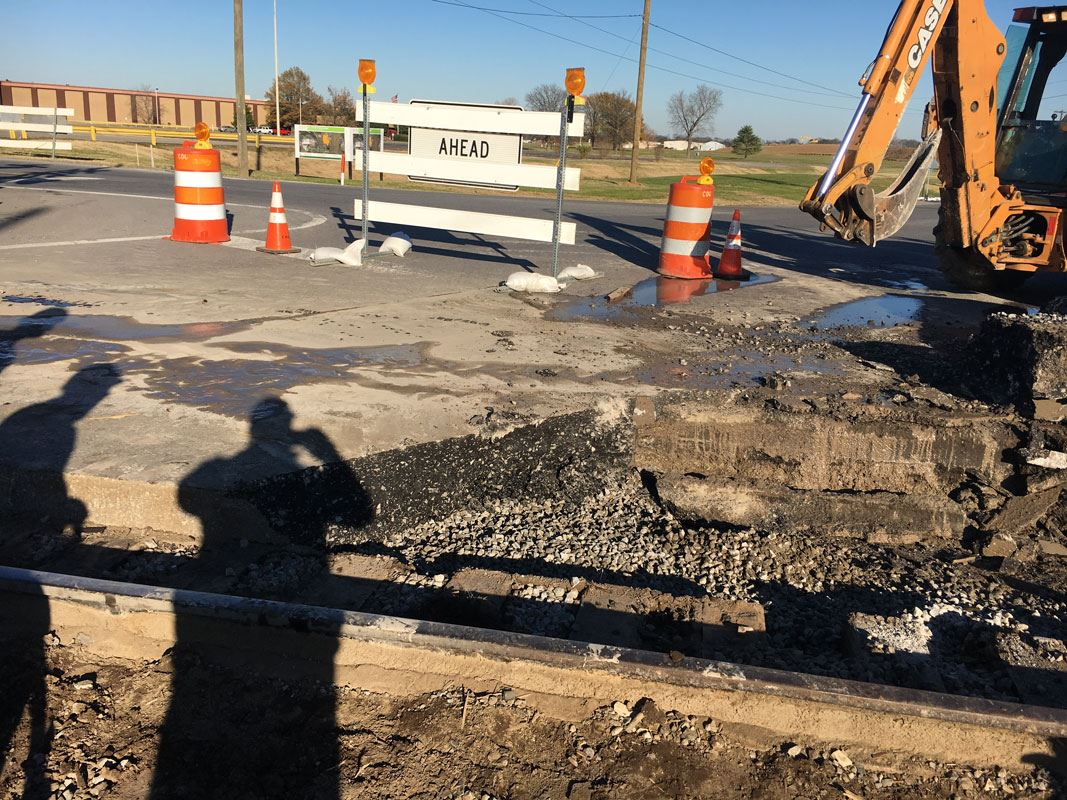 Railroad Crossing Work at Airport Road
