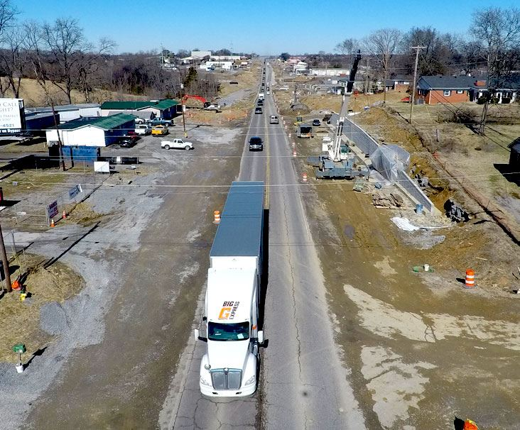 Roadway construction on Highway 109