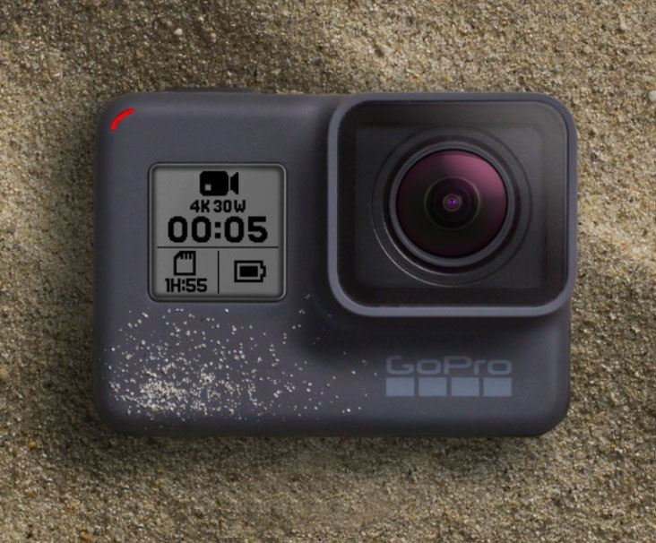 GoPro Hero 5 Camera in Sand