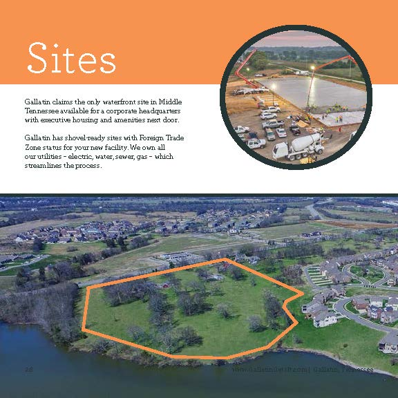 Gallatin lakefront corporate site