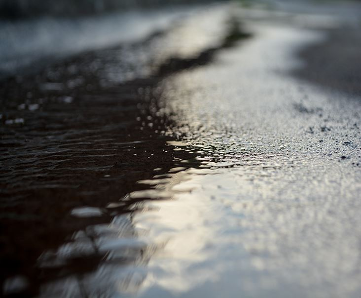 water on pavement