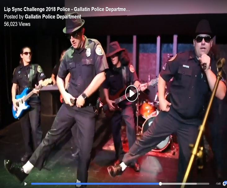 GPD Performing the Blues Brothers for the Lip-Sync Challenge