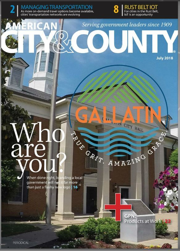Gallatin on cover of American City & County