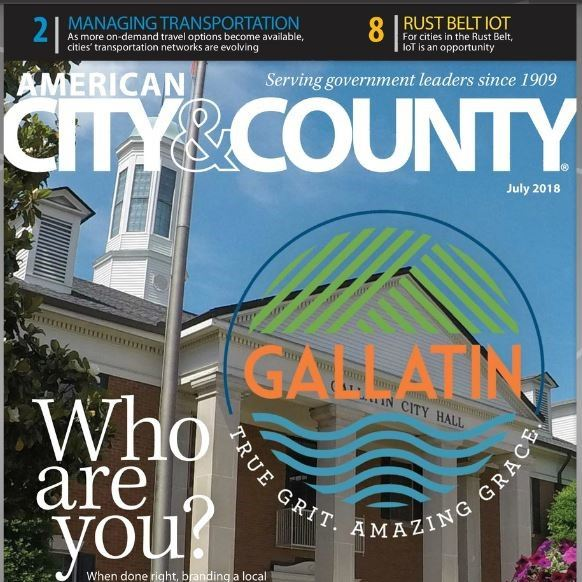 Gallatin TN Cover Story in July 2018 American City & County