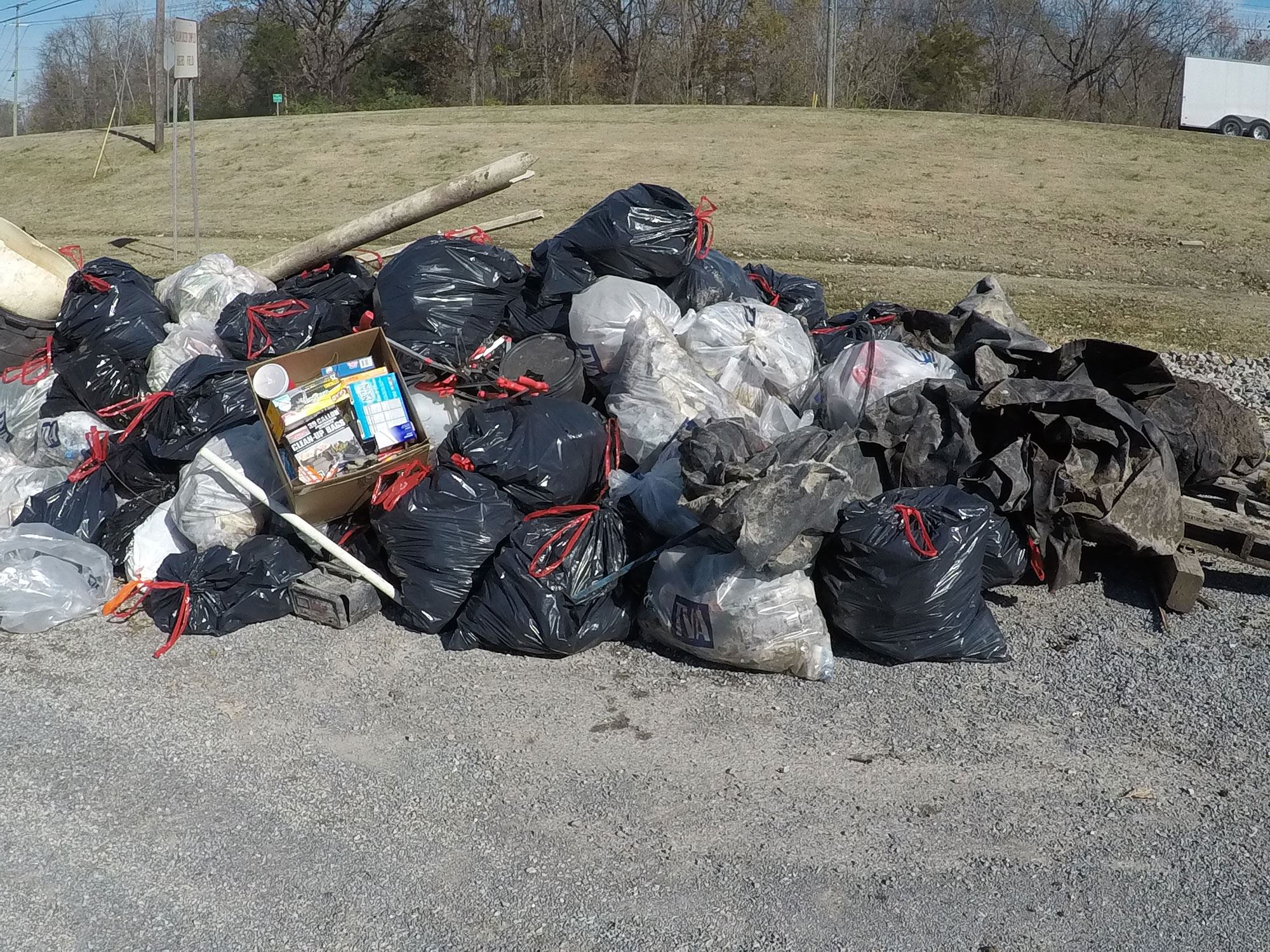 Assembly of Several Bags of Trash