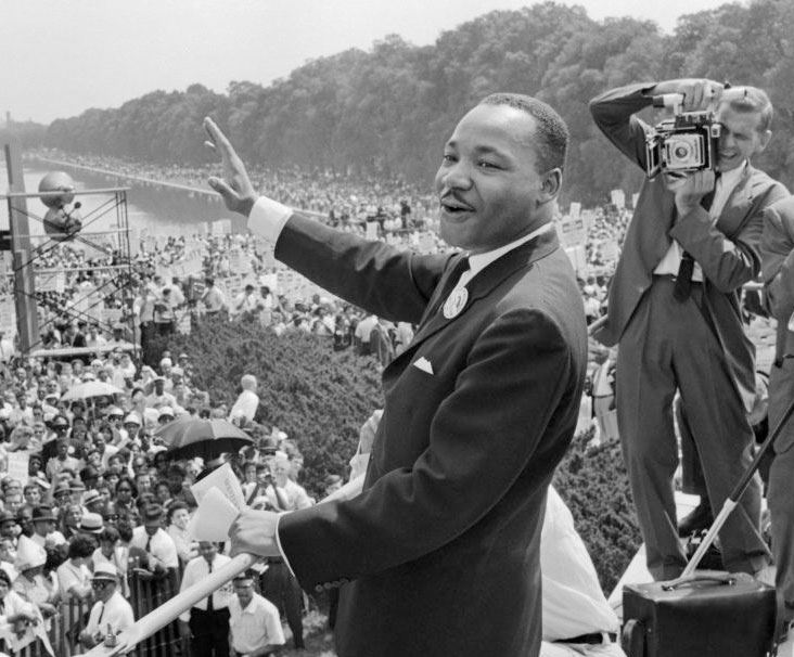 Martin Luther King - Aug. 1963 on the Mall in Washington, D.C.