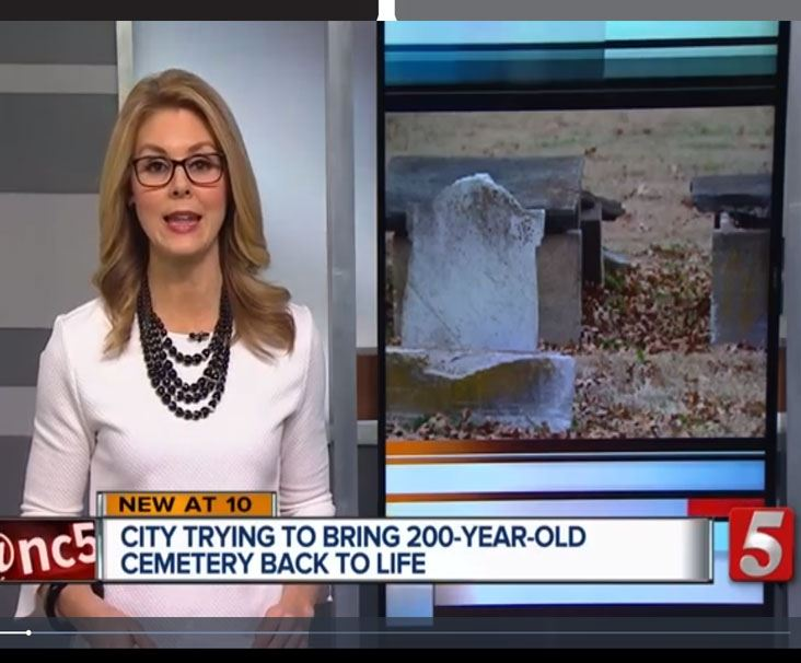 Newschannel 5 anchor introduces cemetery story