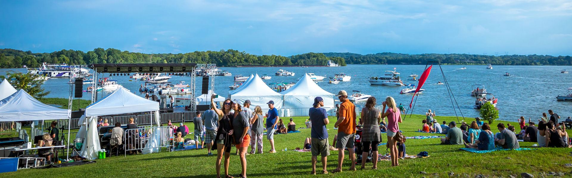 Fire on the Water Music Festival Lakefront View