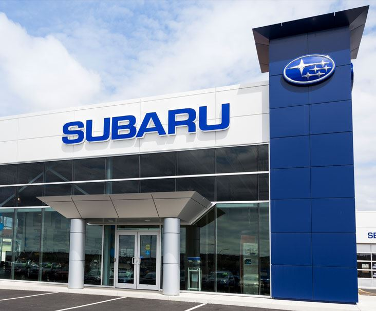 Subaru Dealership Stock Image