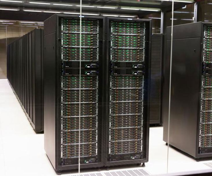 Network of computer servers of advanced datacenter