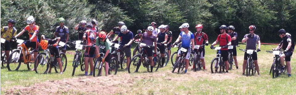 Riders Lining Up for Mountain Bike