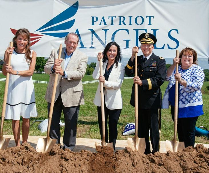 Breaking ground ceremony for Patriot Angels facility