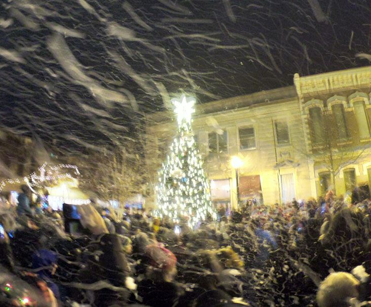 Snow Storm during Gallatin Tree Lighting