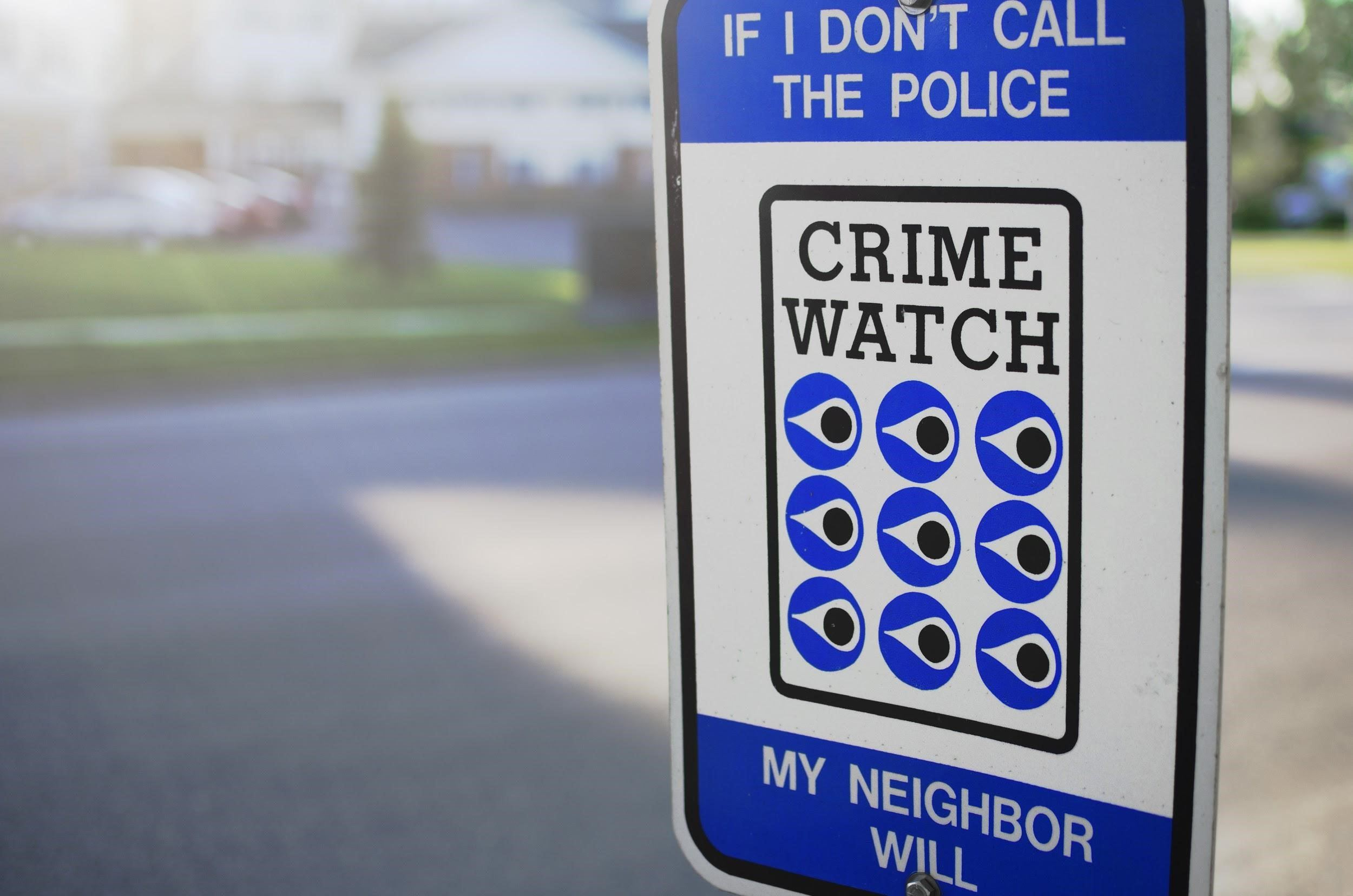 Posted Crime Watch Sign
