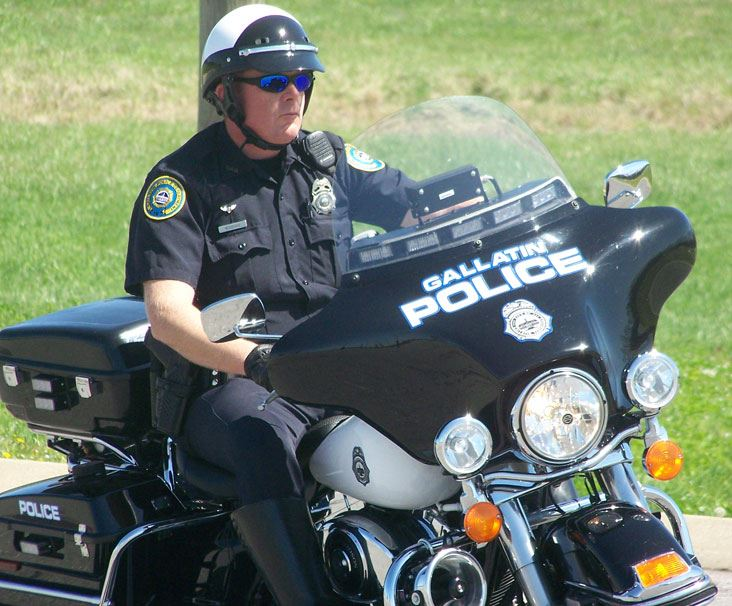 Gallatin Police Officer on Motorcycle