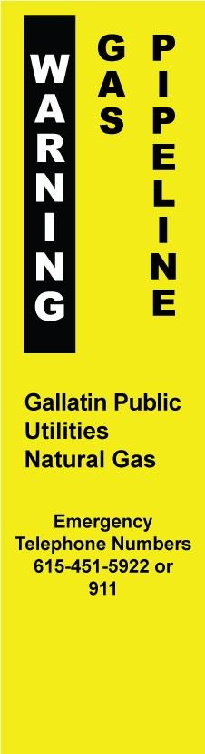 Warning, Gas Pipeline