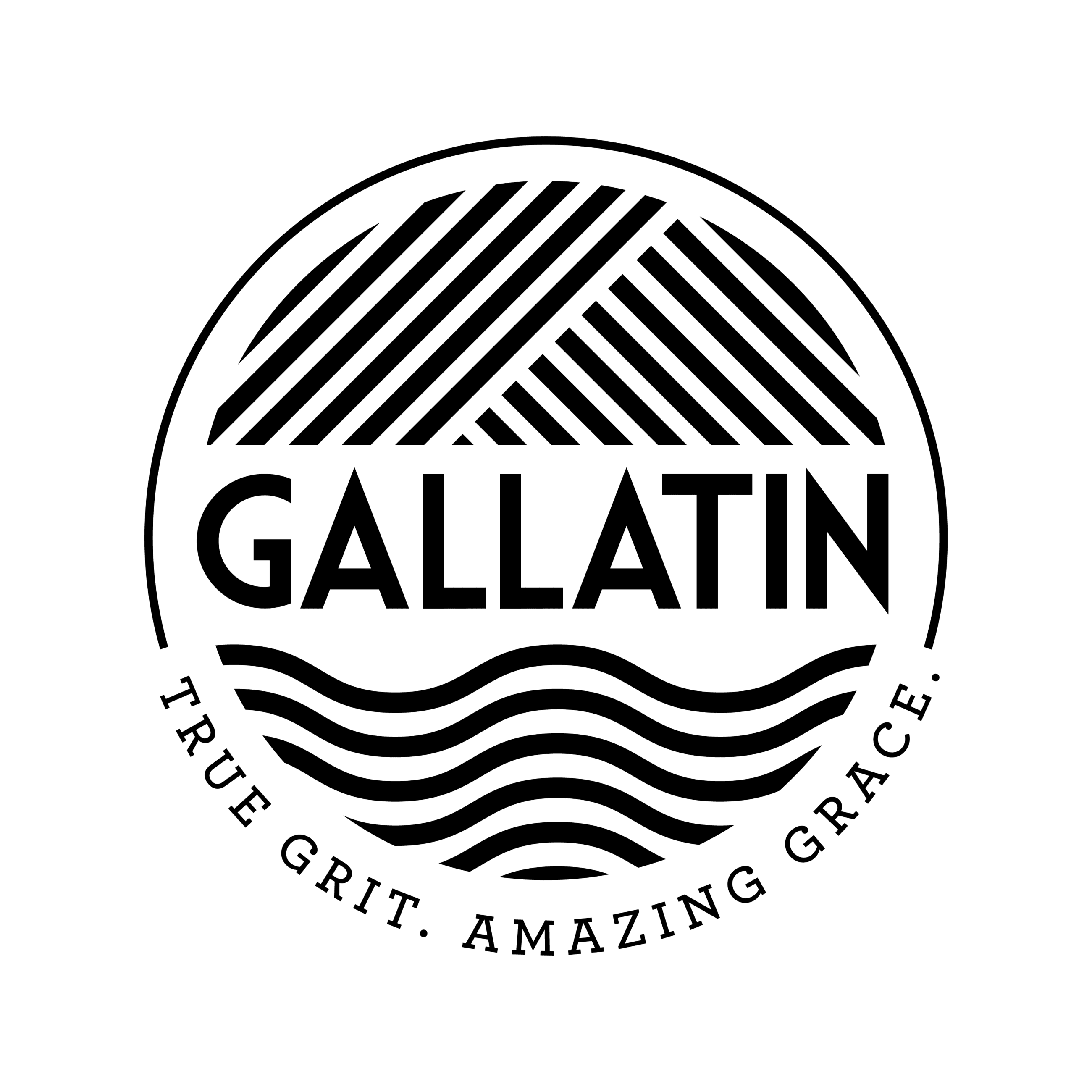 Gallatin Black and White Logo with Tagline