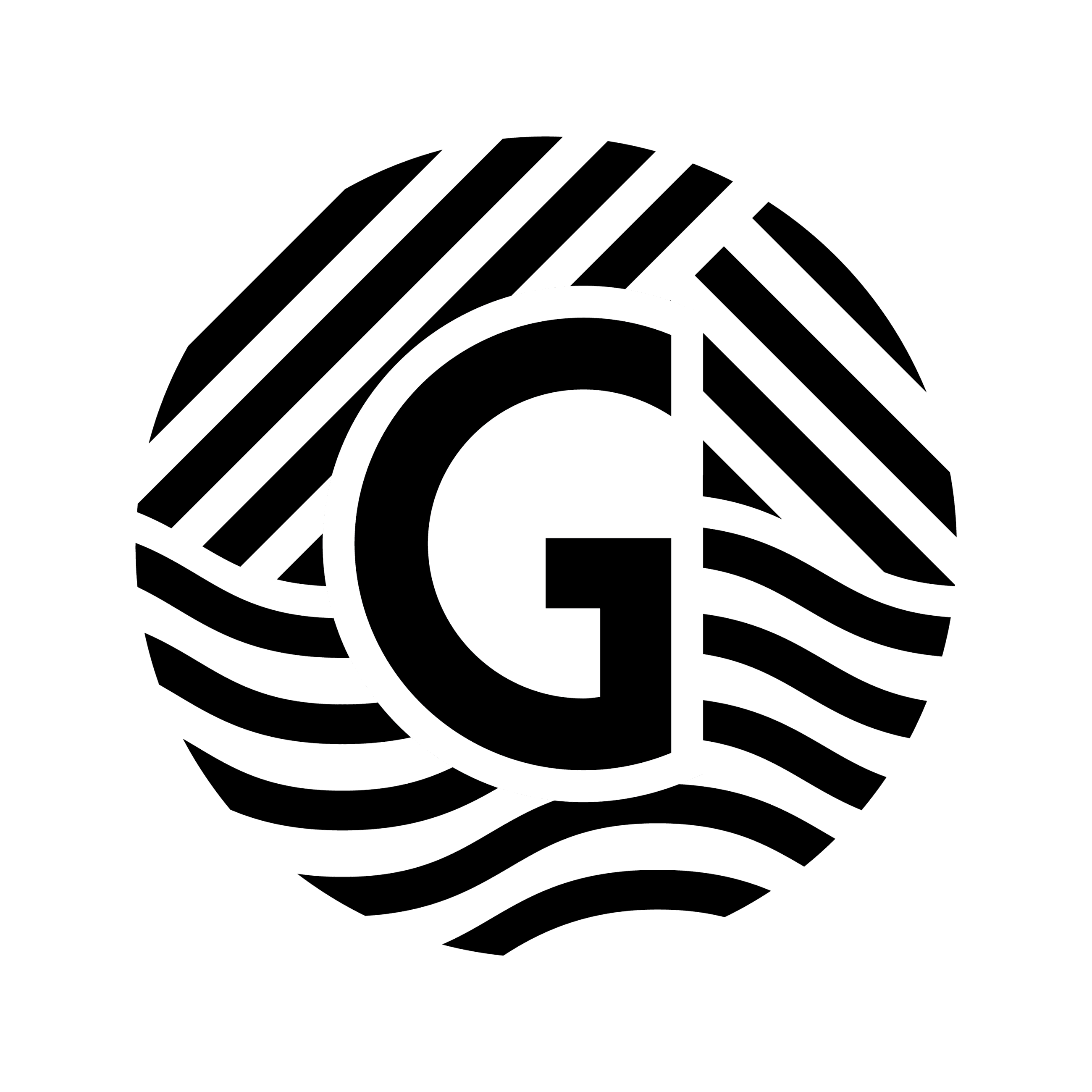 "Gallatin Black and White Logo with ""G"""