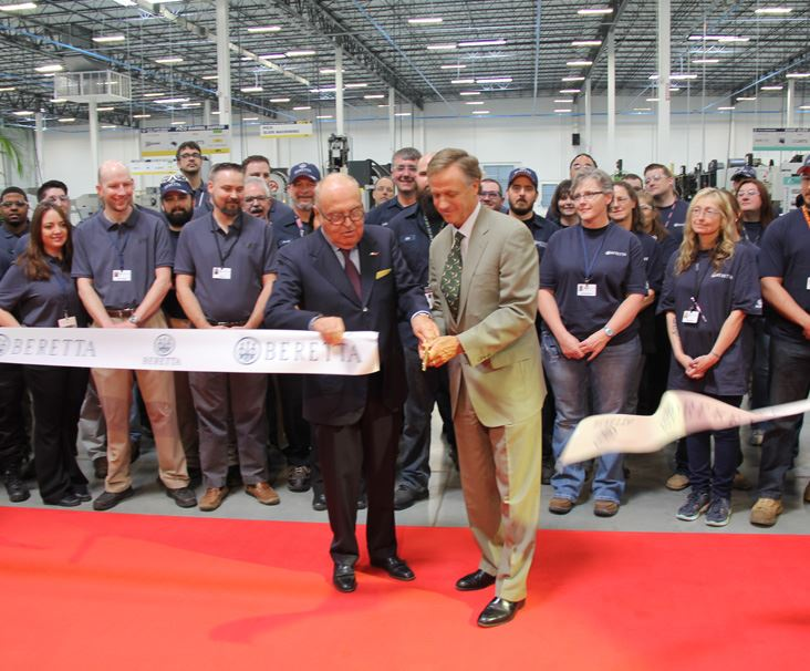 The official ribbon is cut on the new Gallatin plant.